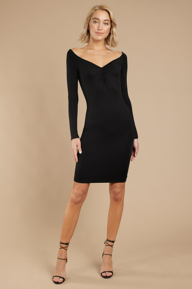 Griselda Black Bodycon Dress