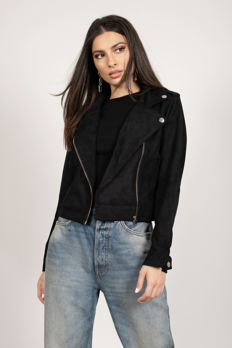 Gryffin Faux Suede Moto Jacket