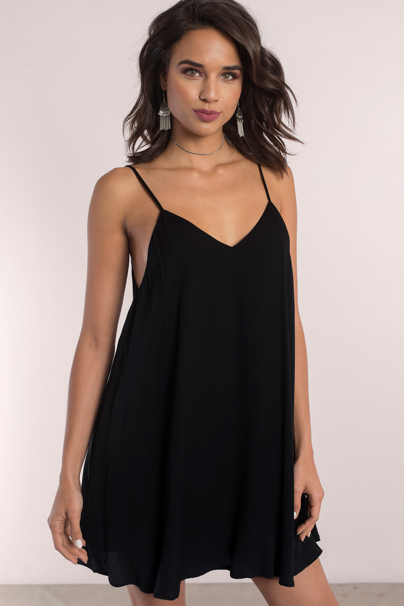 Guiliana Black Swing Dress