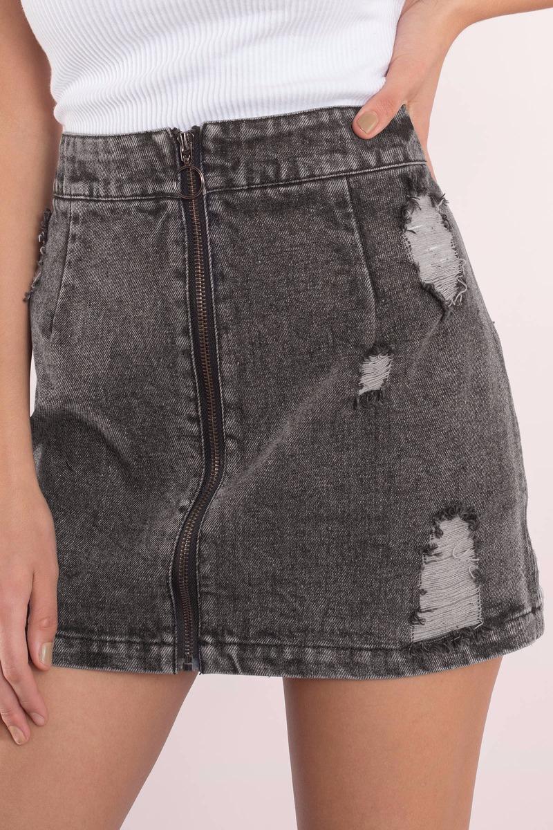 5f9e559929dd Denim Skirt - Denim Skirts Mini - Jean Mini Skirt - Black Denim ...
