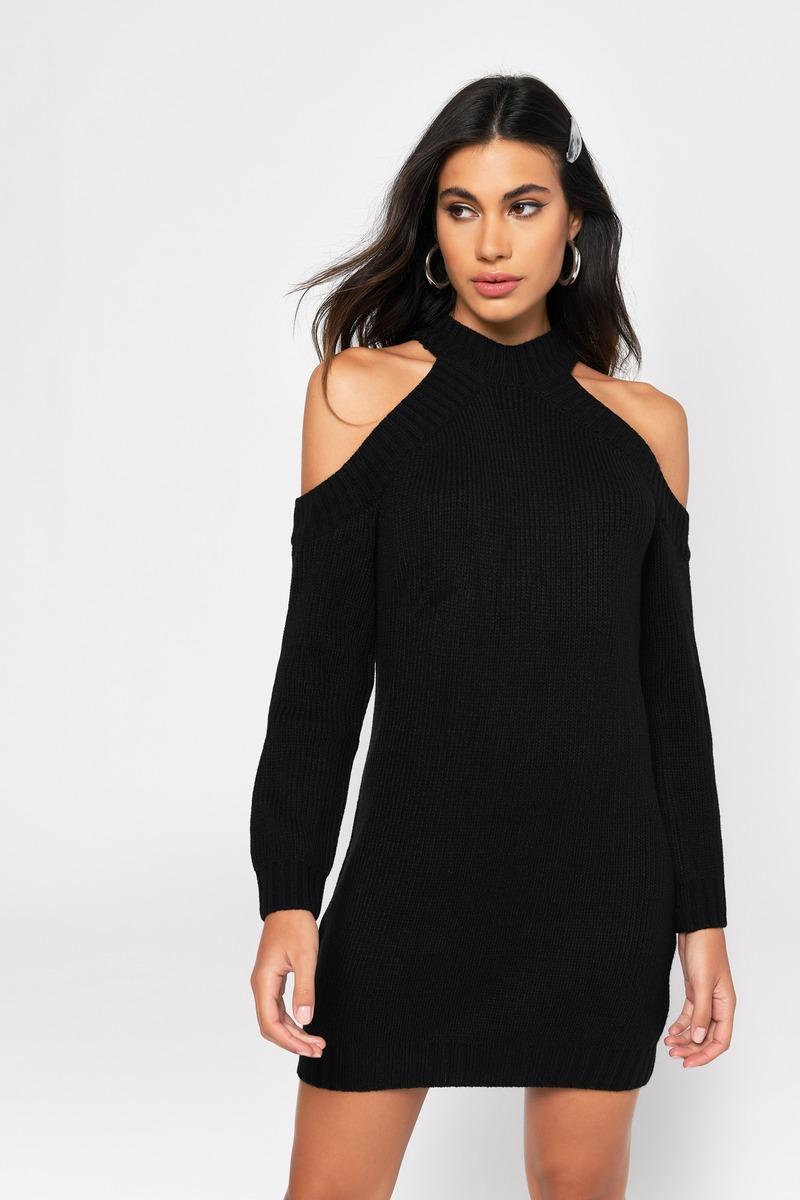 Cheap Black Day Dress - Long Sleeve Dress - Day Dress - $20 | Tobi US