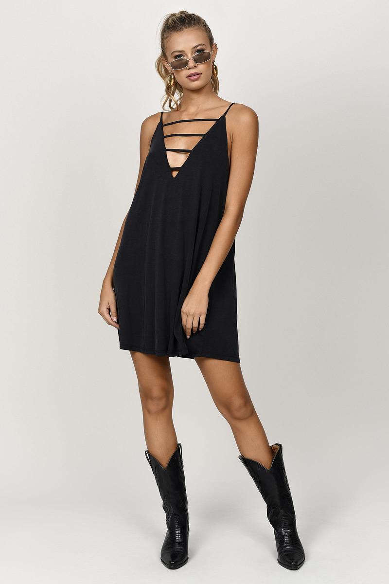 Cute Black Shift Dress - Strappy Dress - Black Dress - Shift Dress ... e3b18b217