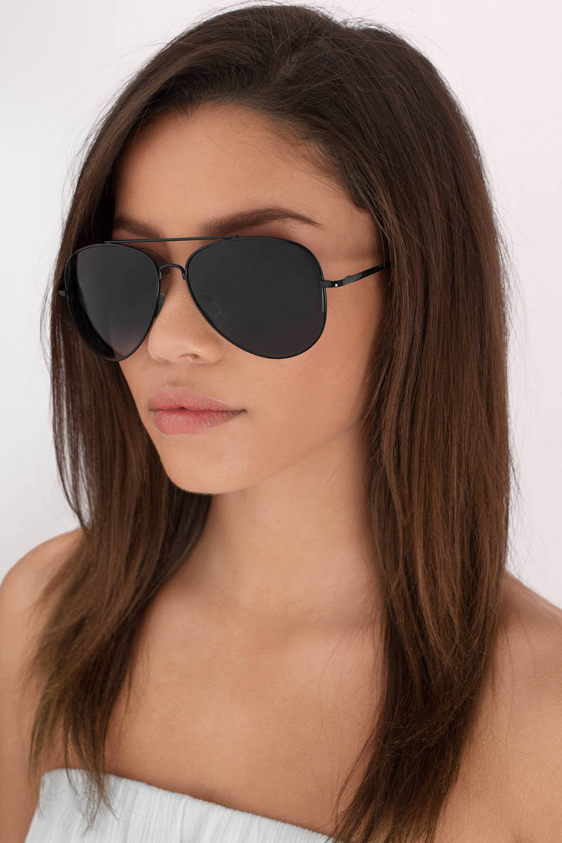 Hideaway Black Aviator Sunglasses