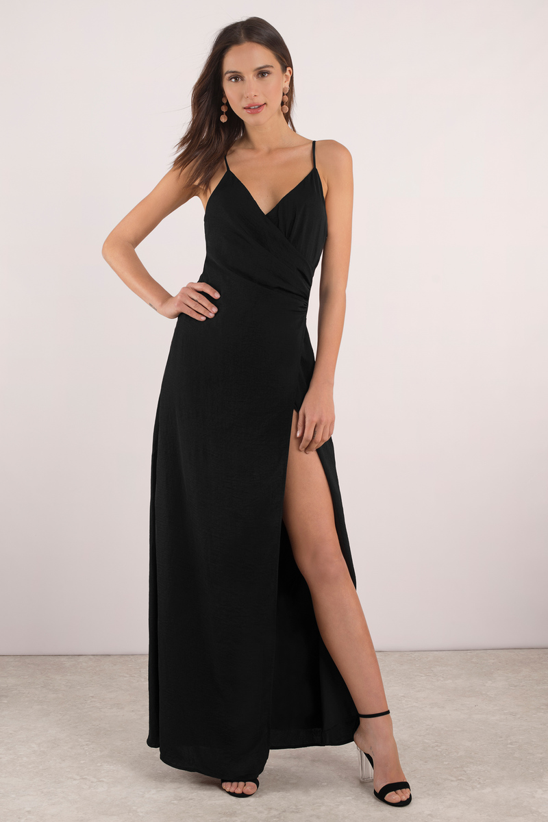 High Slits Black Maxi Dress The slash-through price quote may reflect the price at which we previously sold the item, or in some instances, is based on a comparative analysis of the price of the same or a similar item being sold at retailers or online stores.