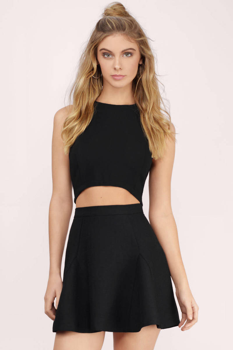 Holly Black Skater Skirt