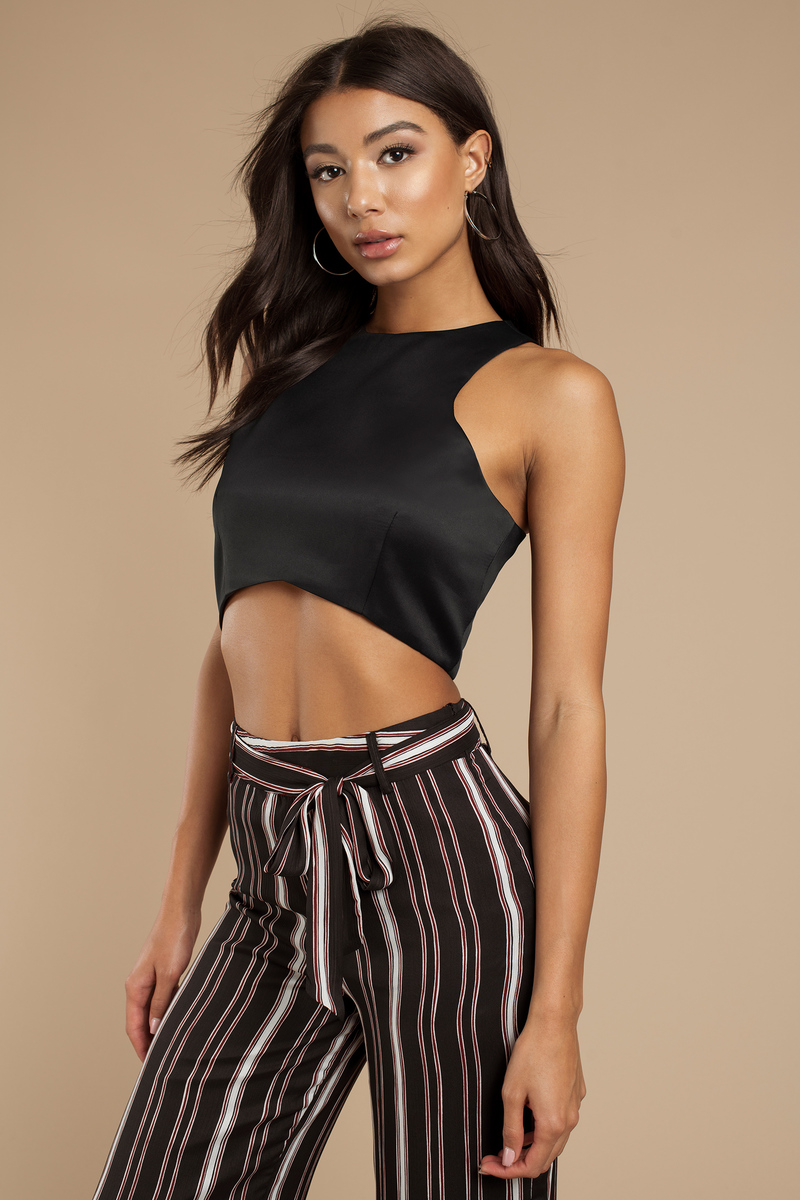 Horizon Racer Navy Crop Top
