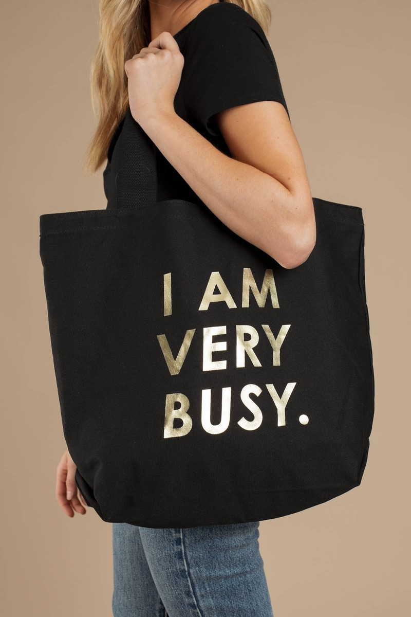 4090c242fc91 Black Ban.Do Tote - Slogan Tote - Black Canvas Tote Bag -  28