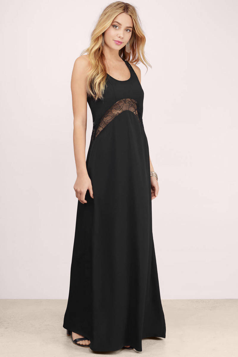 In The Sheer Olive Lace Maxi Dress