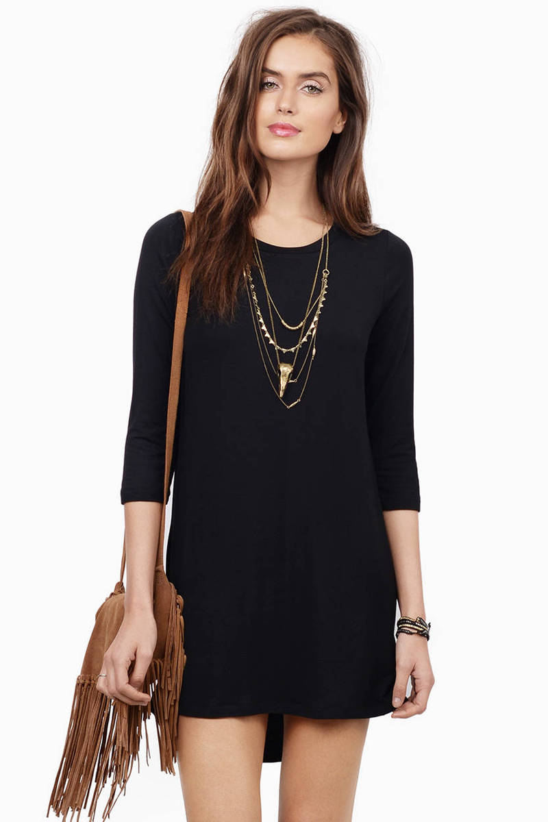 In Tunic With The Times Black Tunic Dress
