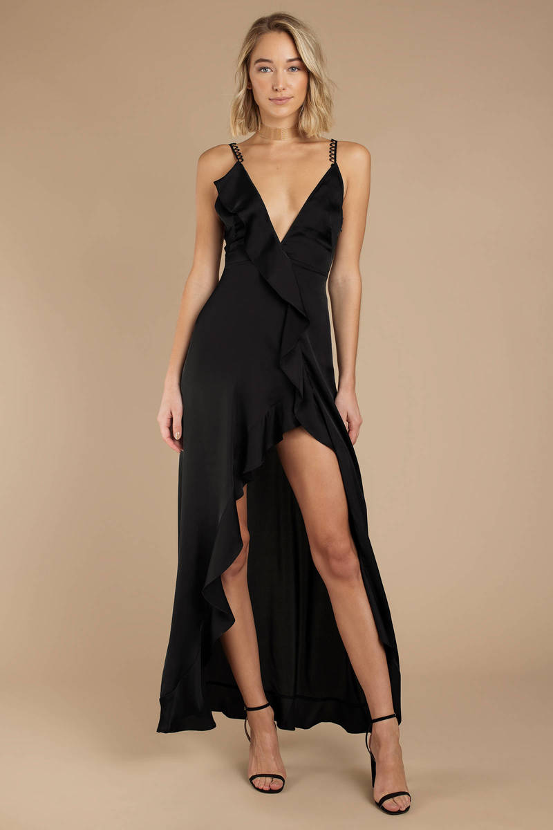Black For Love And Lemons Dress - Ruffled