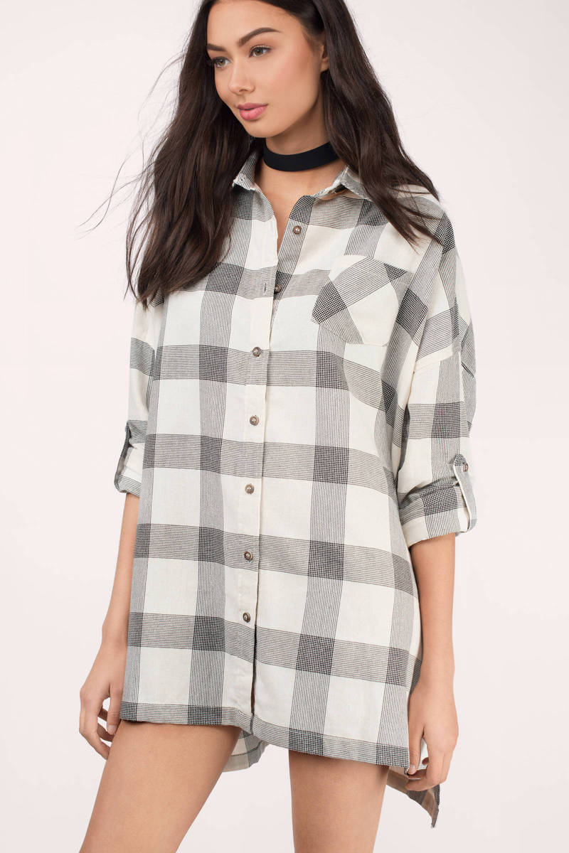 Kent Black & Ivory Checkered Shirt