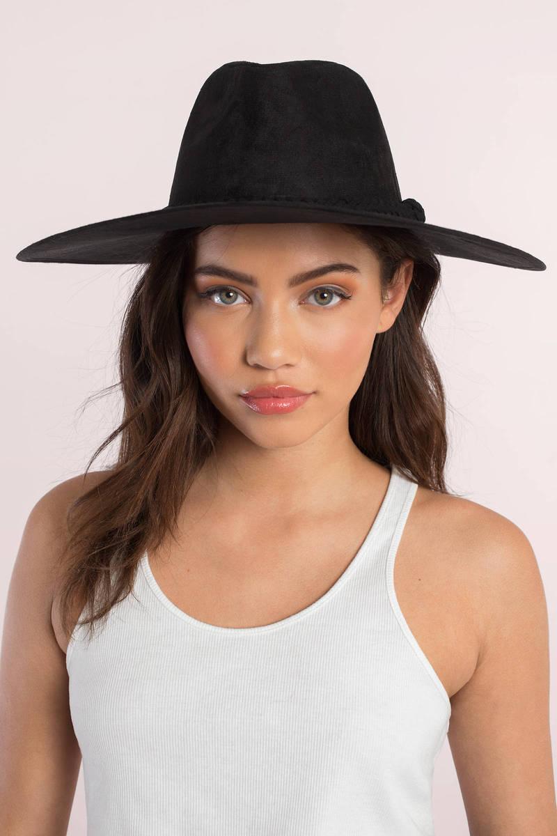 Jamie Black Suede Hat