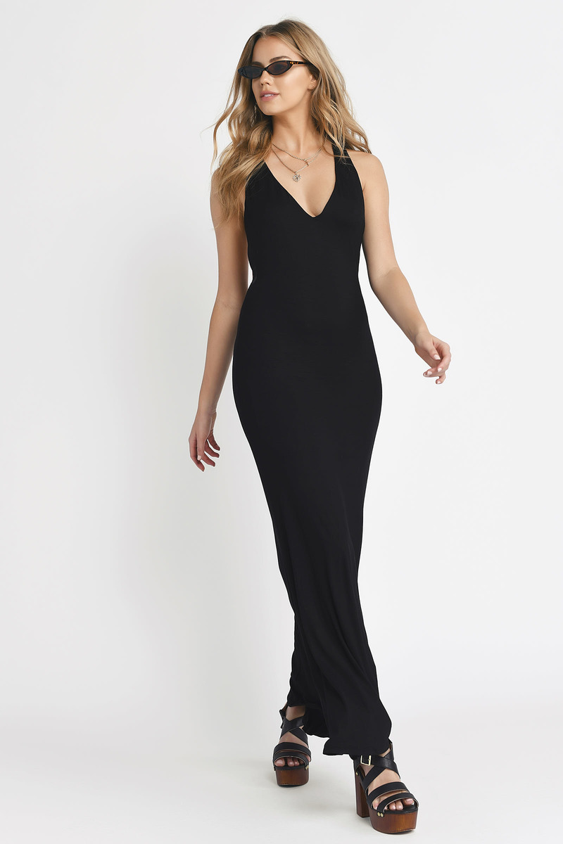 Jolene Up Black Maxi Dress