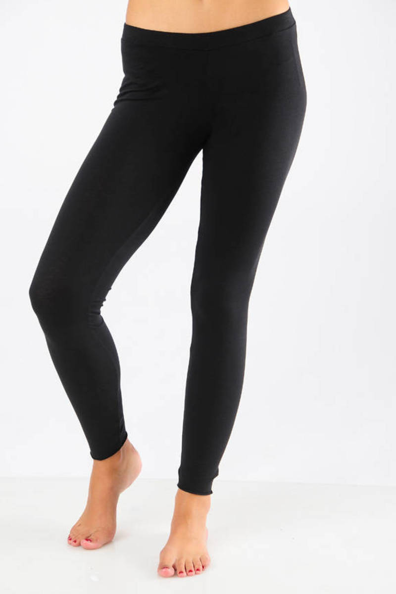 76d677ad54f Black Velvet Leggings - Layered Leggings - Soft Black Leggings - $30 ...