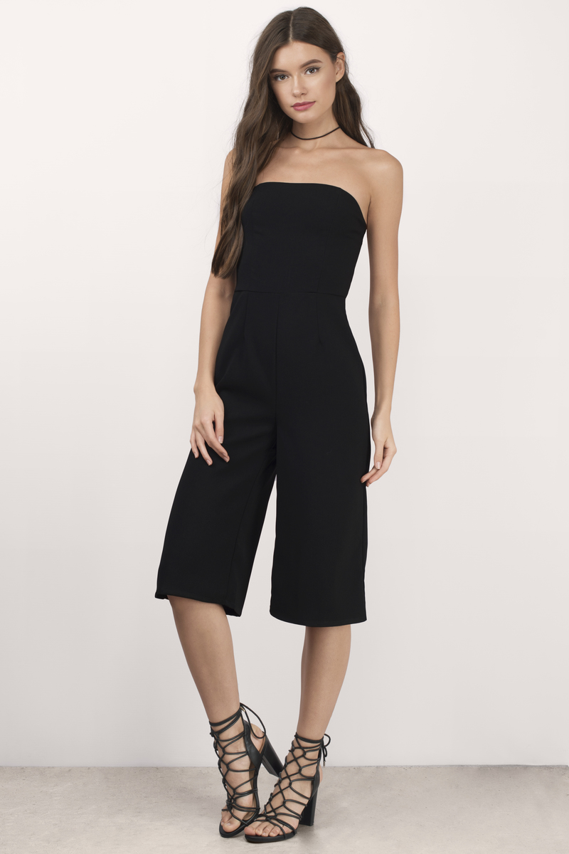 Joslyn Black Culotte Jumpsuit