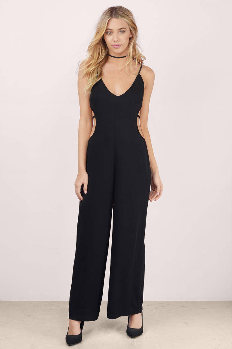 Jump On It Black Jumpsuit