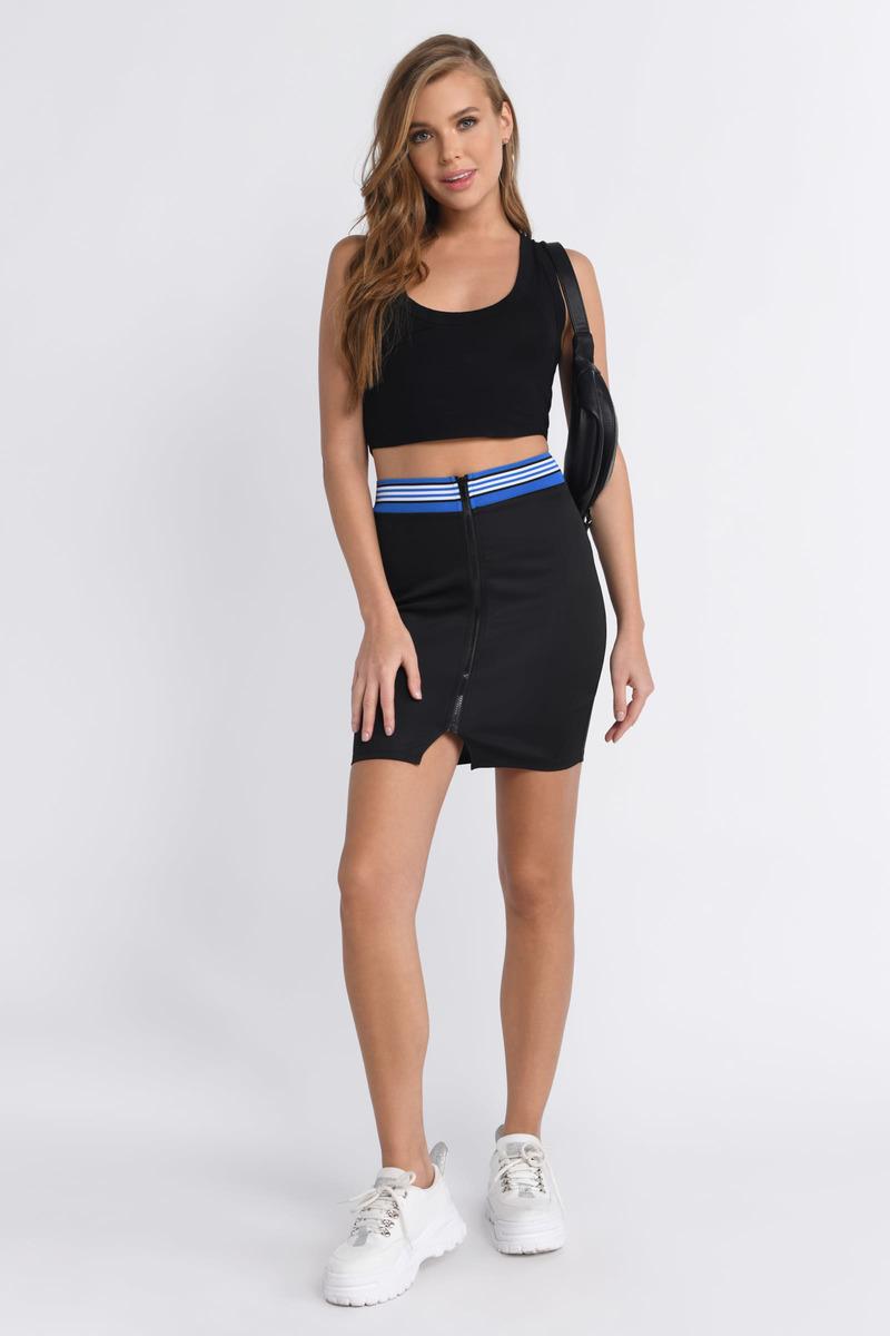 Just Do It Black Bodycon Skirt