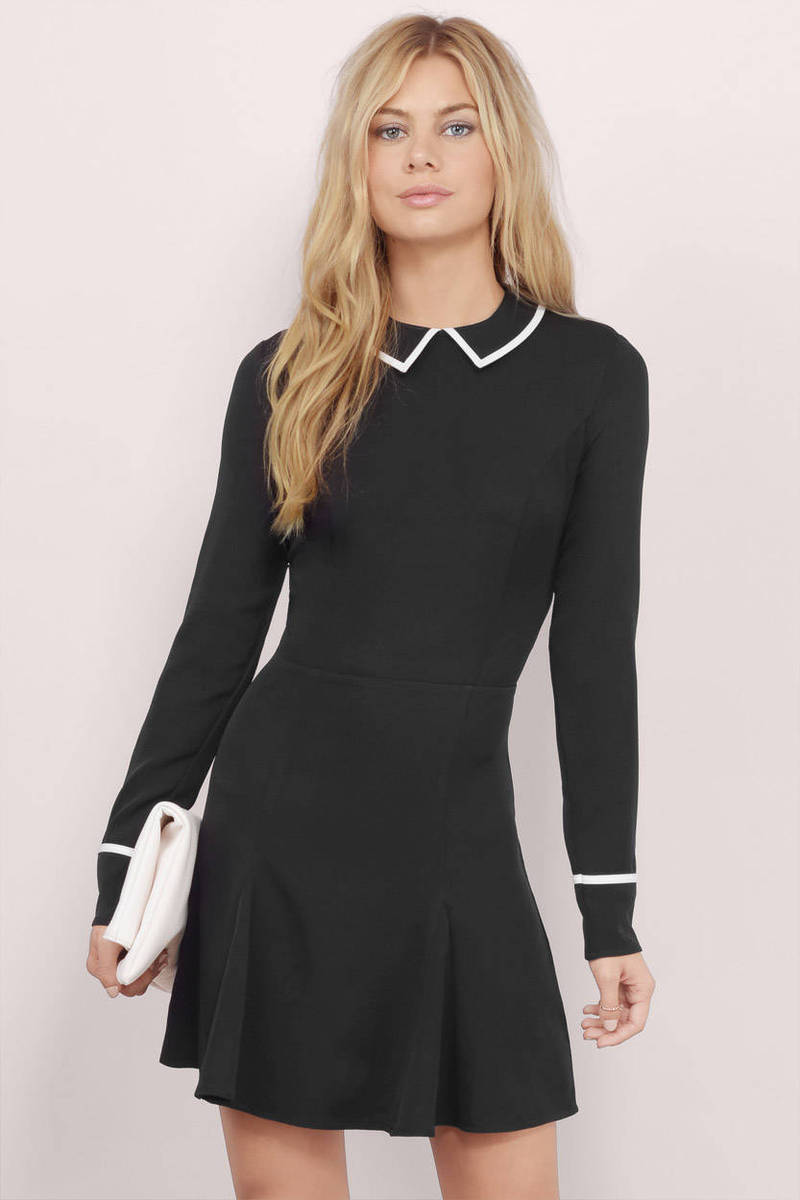 Kaelyn Piping Skater Dress