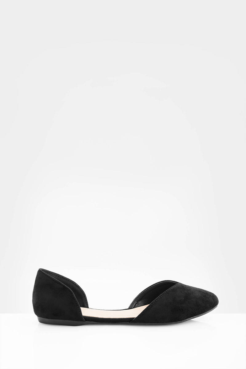 Kailani Black  Suede Flats