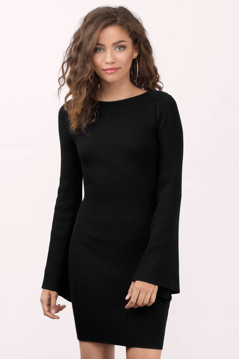 Rehab Clothing Rehab Clothing Kalease Blackknitted Bodycon Dress