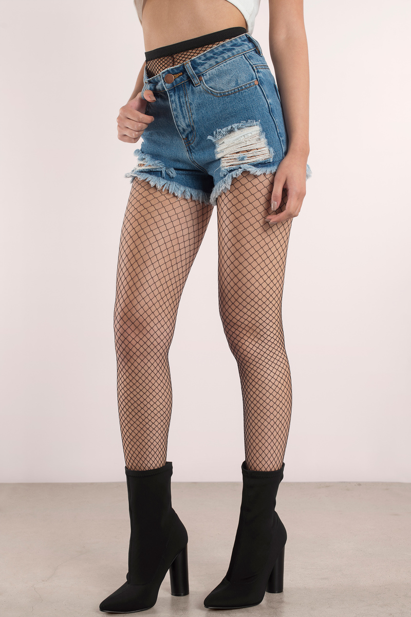 2cb491334238c Kara Black Fishnet Tights - $12 | Tobi US