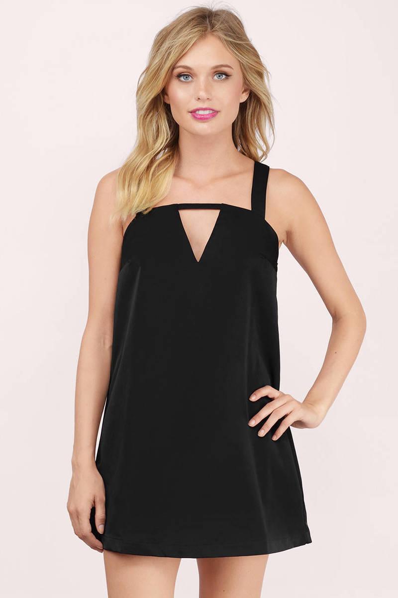 Karlie Black Shift Dress