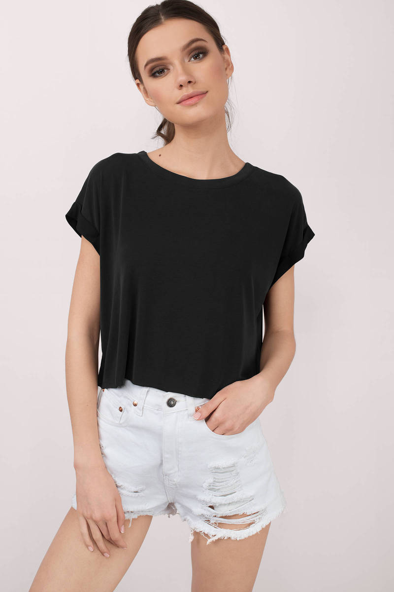 Kate Basic Black Tee