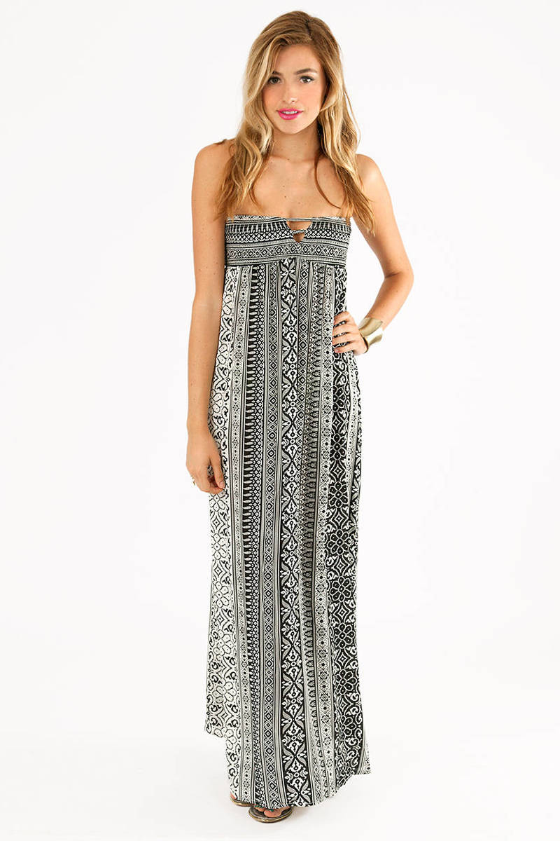 Katie Strapless Maxi Dress