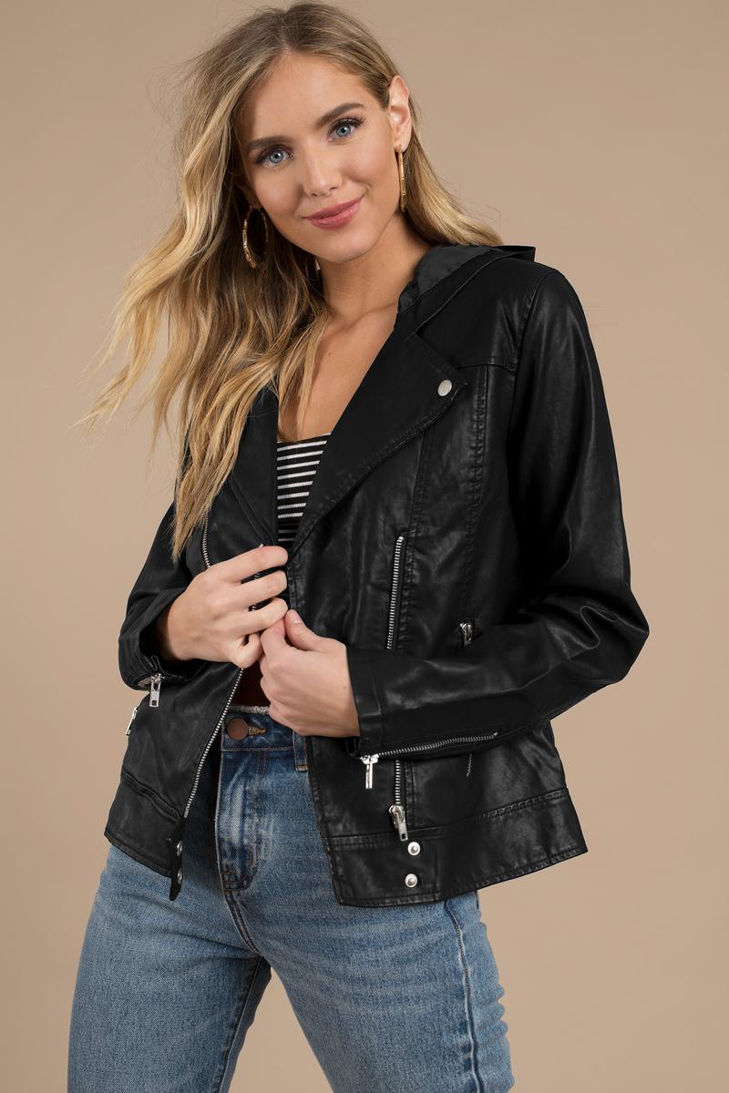 Kayliegh Black Moto Jacket