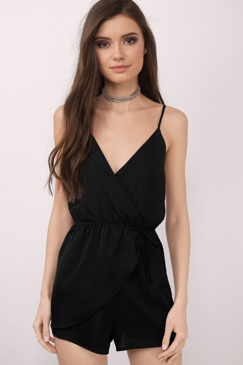Keeley Black Romper