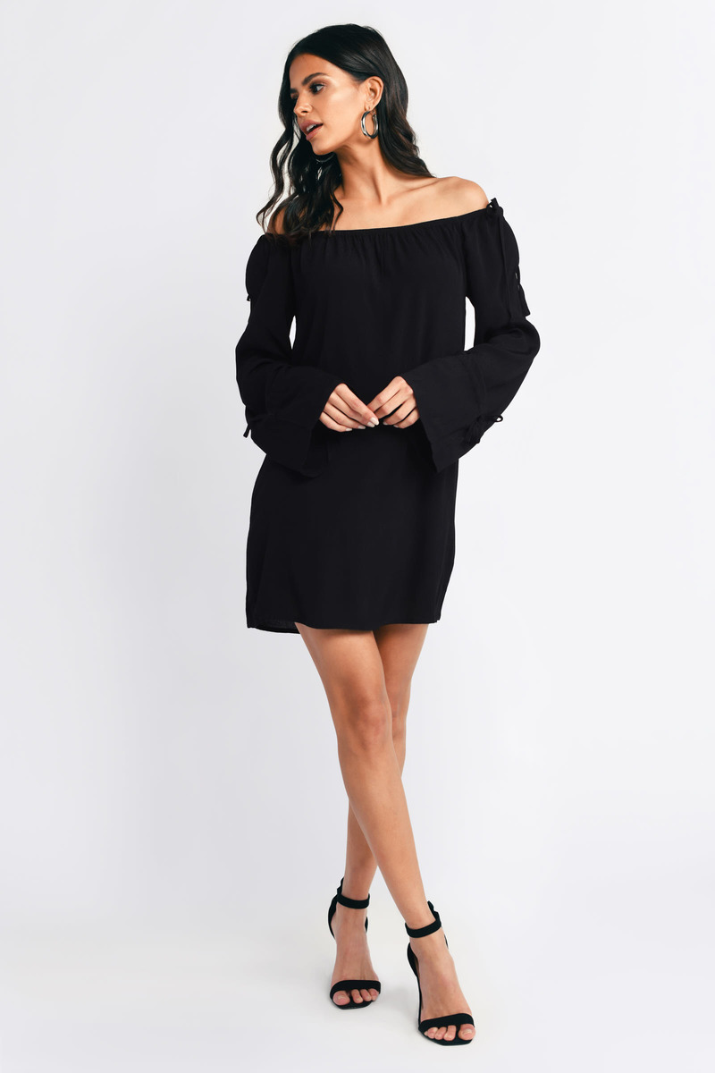 Keep Calm Black Shift Dress