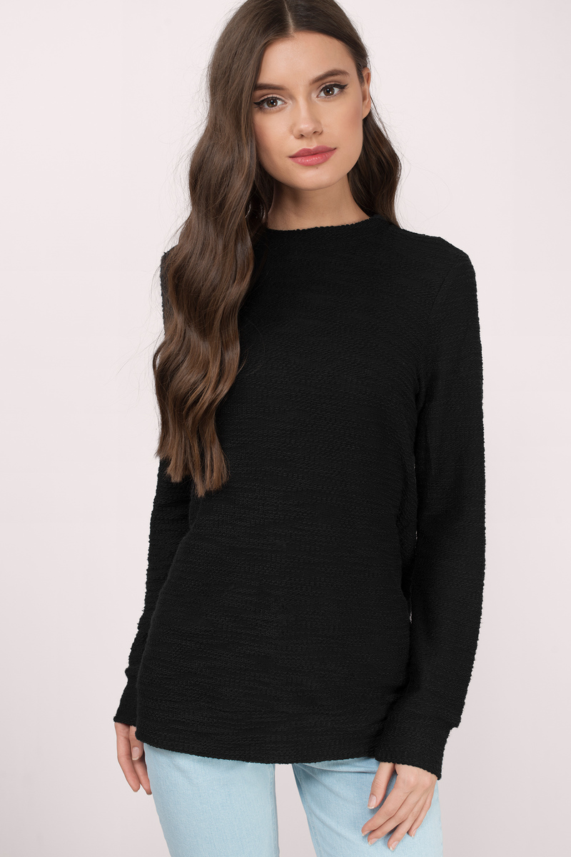 Keepin It Casual Black Sweater