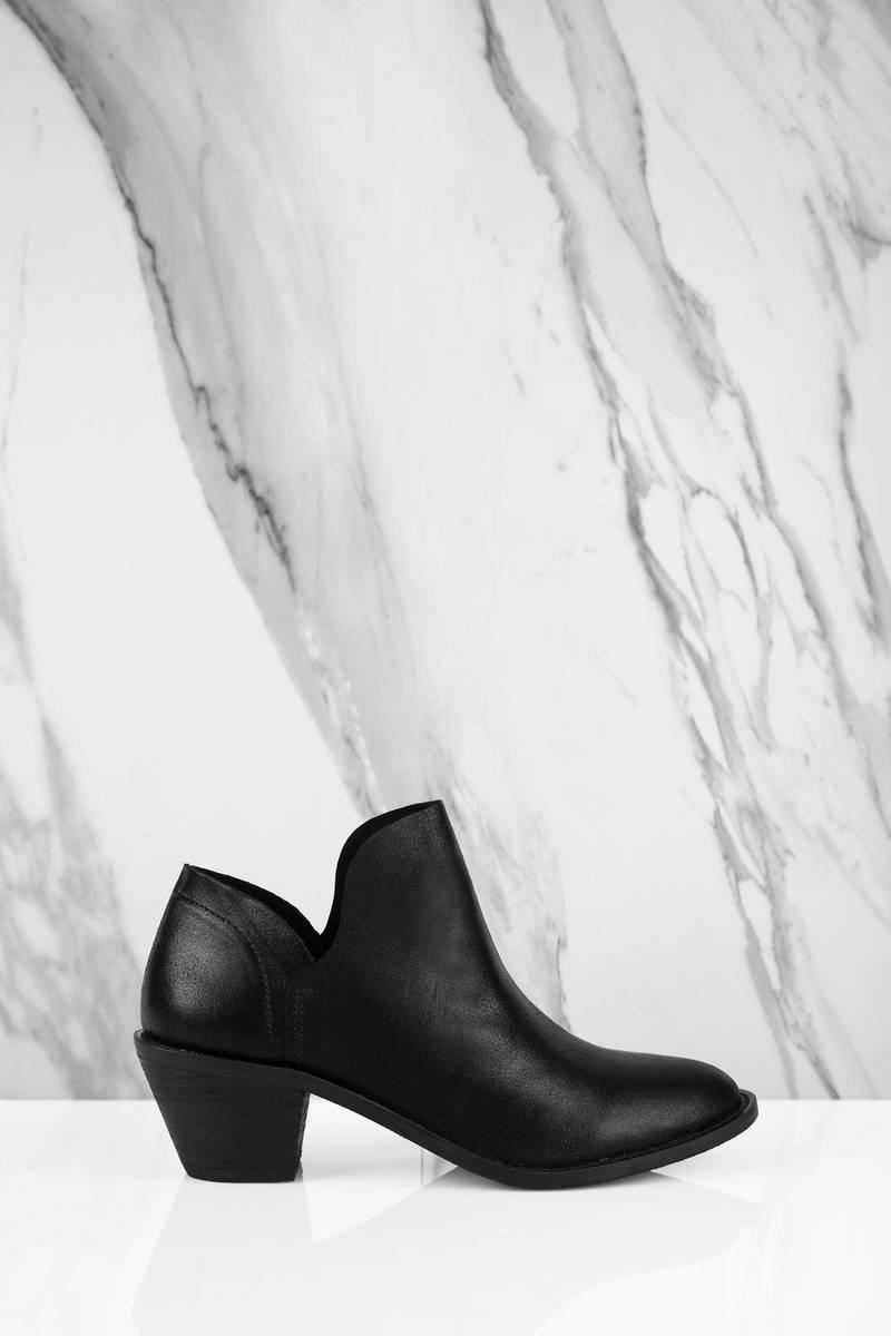03e8377b652c1 Black Kelsi Dagger Boots - Low Heel Boots - Soft Black Leather Boots ...