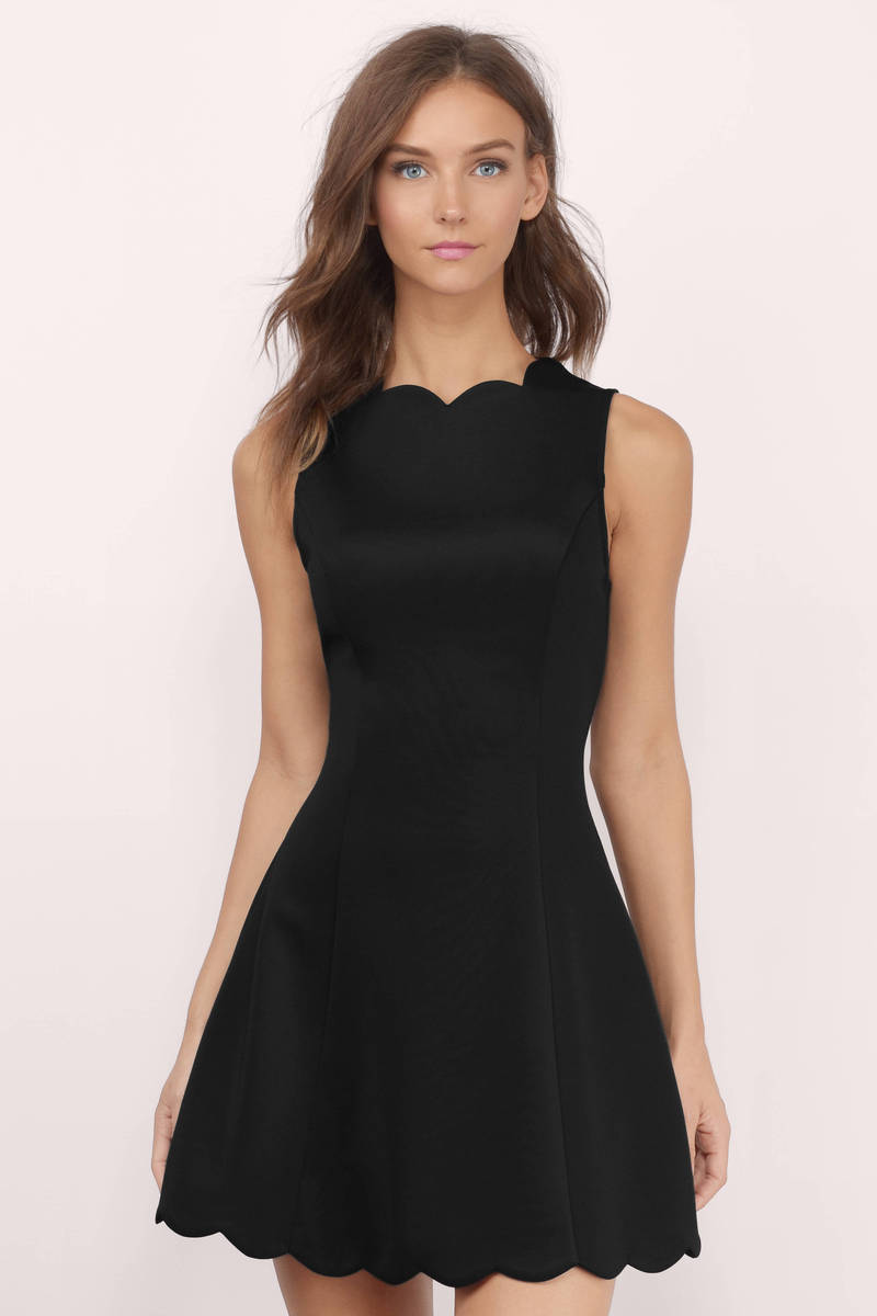 Kennedy Pink Neoprene Scalloped Dress