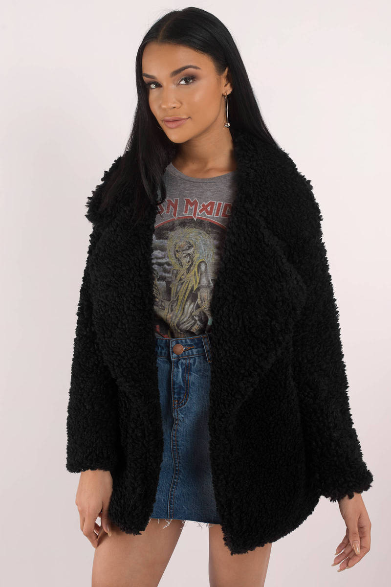 Audrey 3 1 Killin' Me Softly Rust Faux Fur Jacket - $78 | Tobi US
