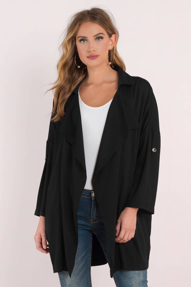 Kim Black Oversized Cardigan - $88 | Tobi US