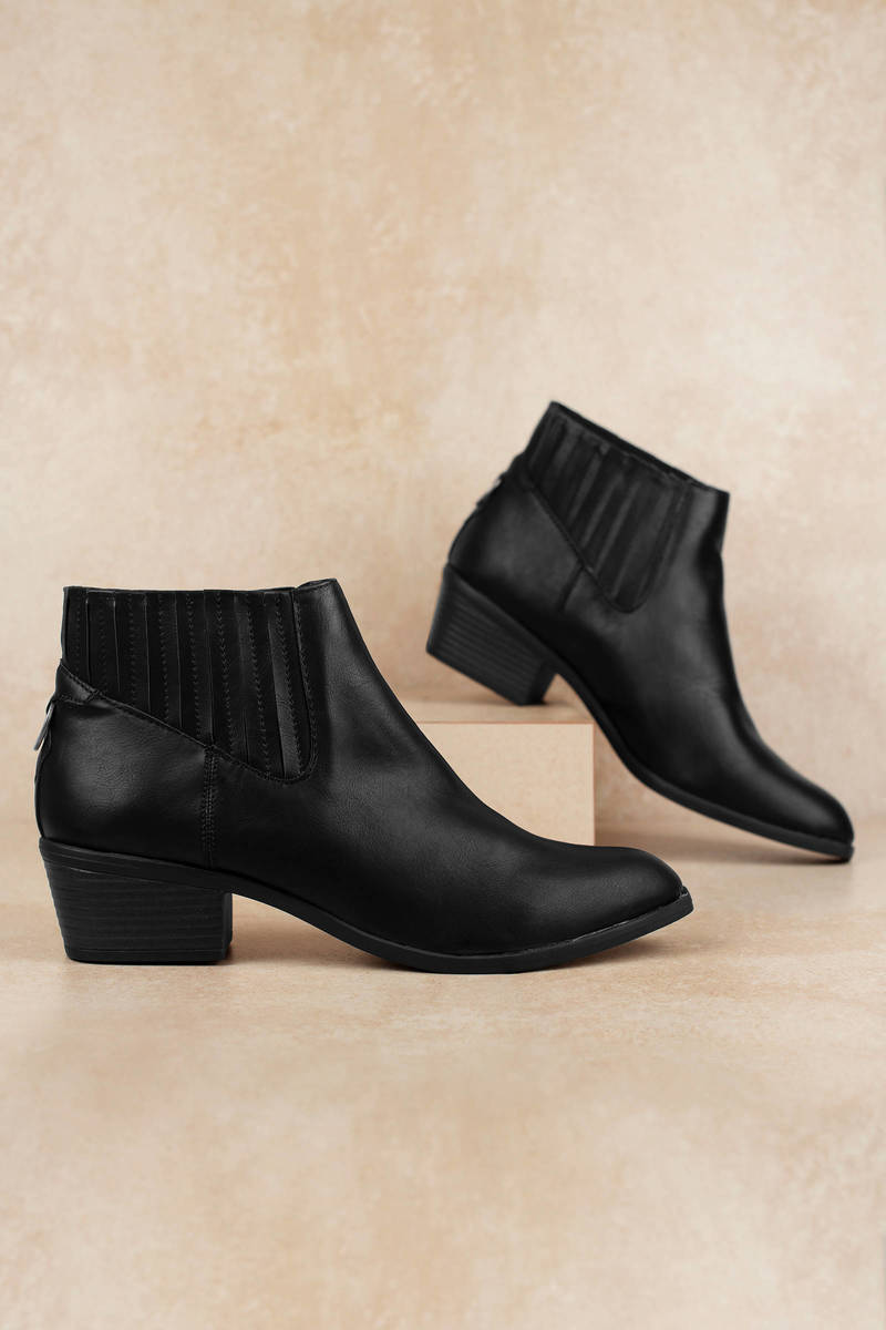 b68513166c0 Knock Faux Leather Chelsea Booties
