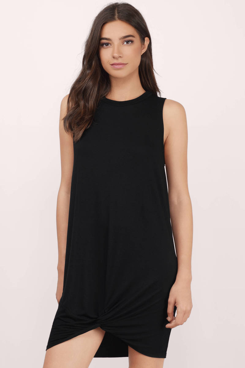 Knot Your Girl Black Shift Dress