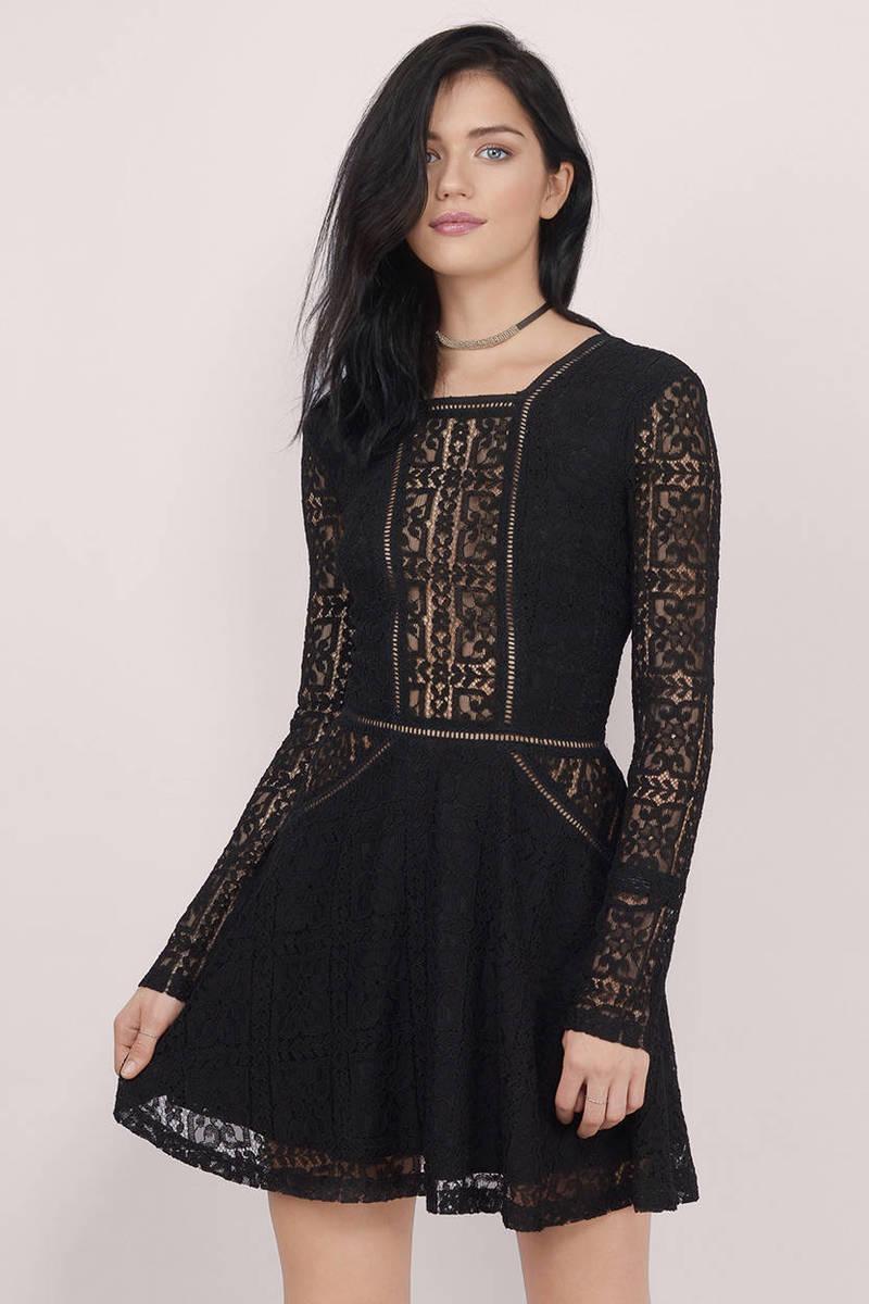 Lady Capulet Black Skater Dress - $14.00 | Tobi