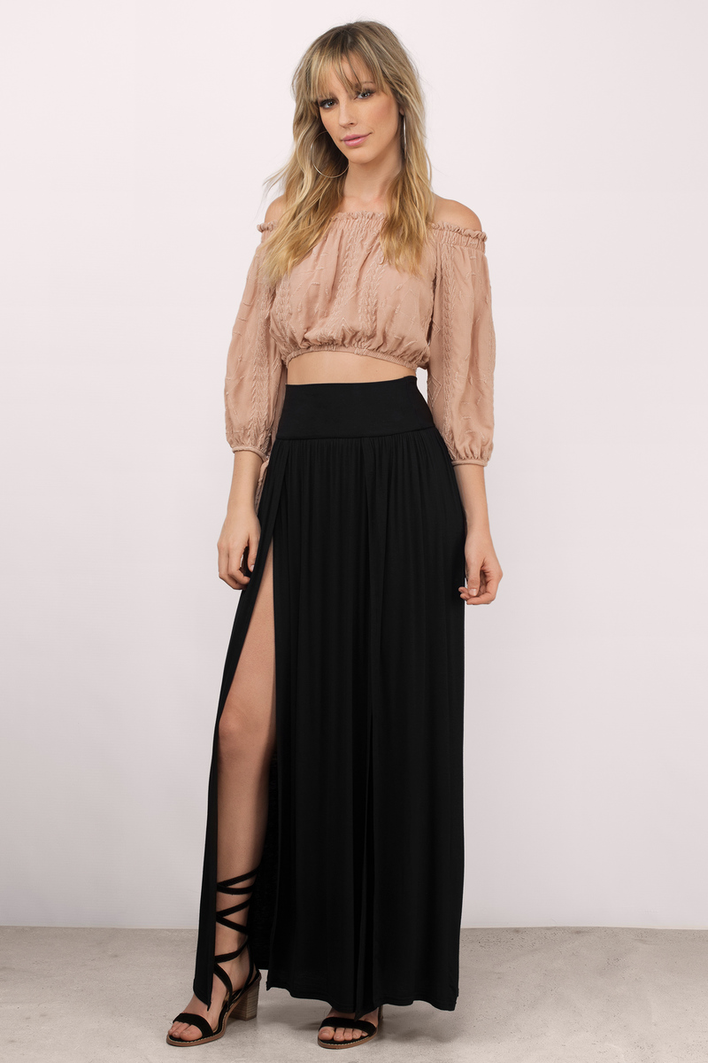 Lani Black Maxi Skirt