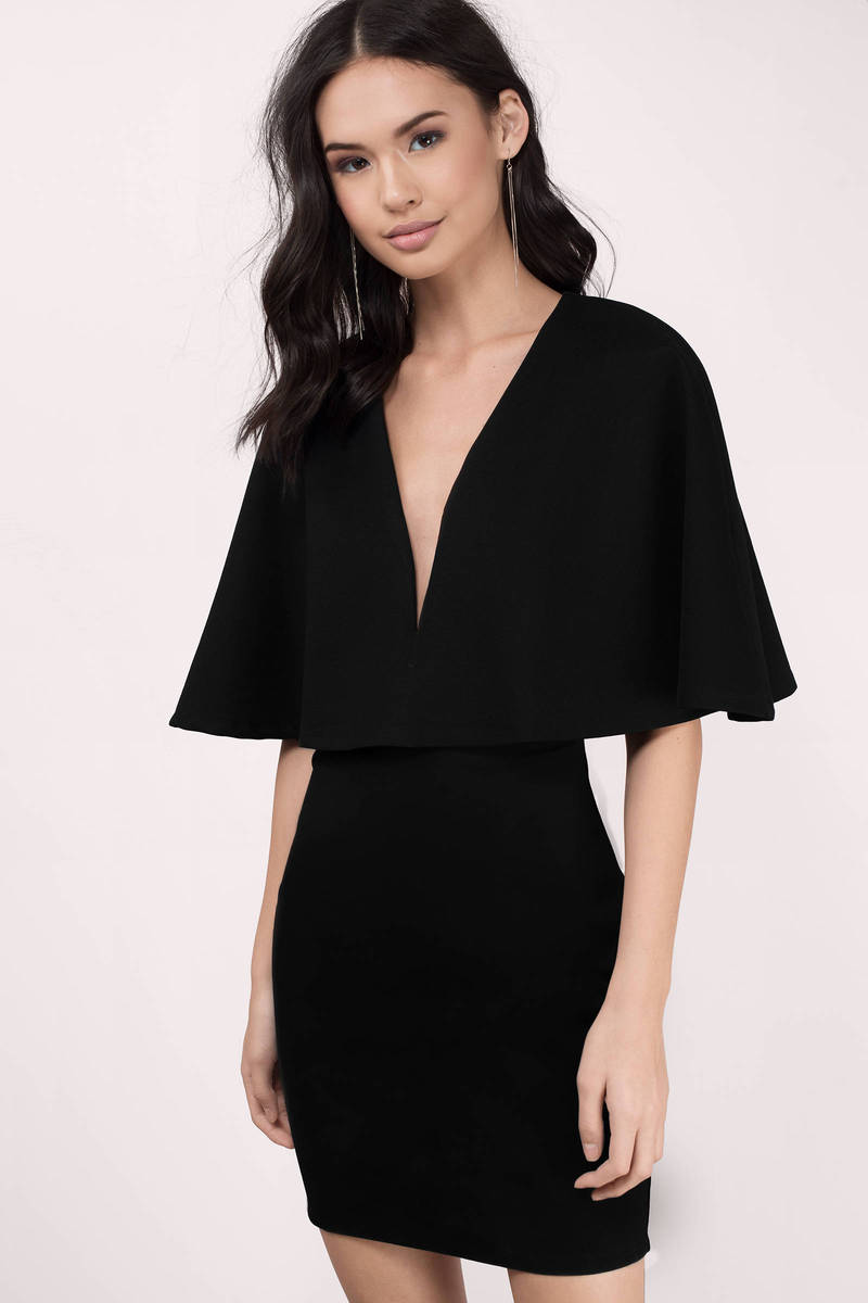 Leave Out The Rest Black Solid Bodycon Dress