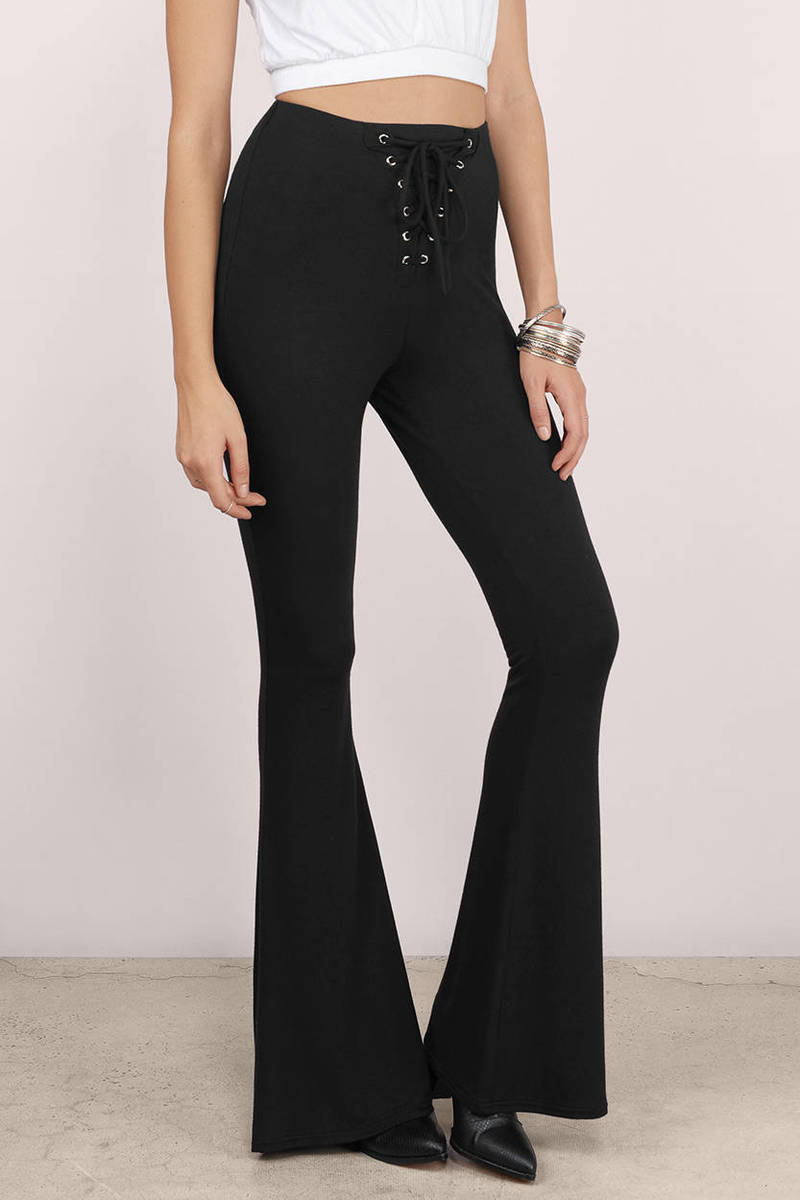 Feel the flared pants vibe at Missguided and grab this season's hottest trend! From jersey to suede and lace, get this flattering piece with tracked delivery.