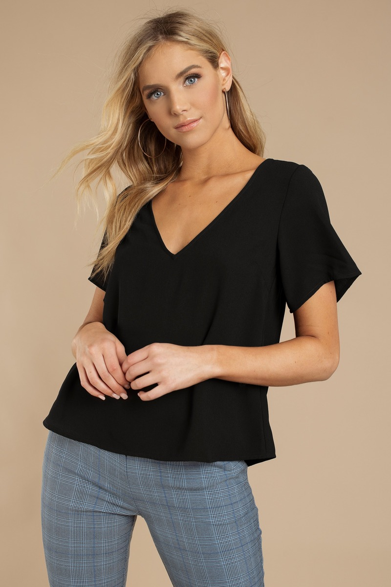 Let It Down Easy Black Blouse