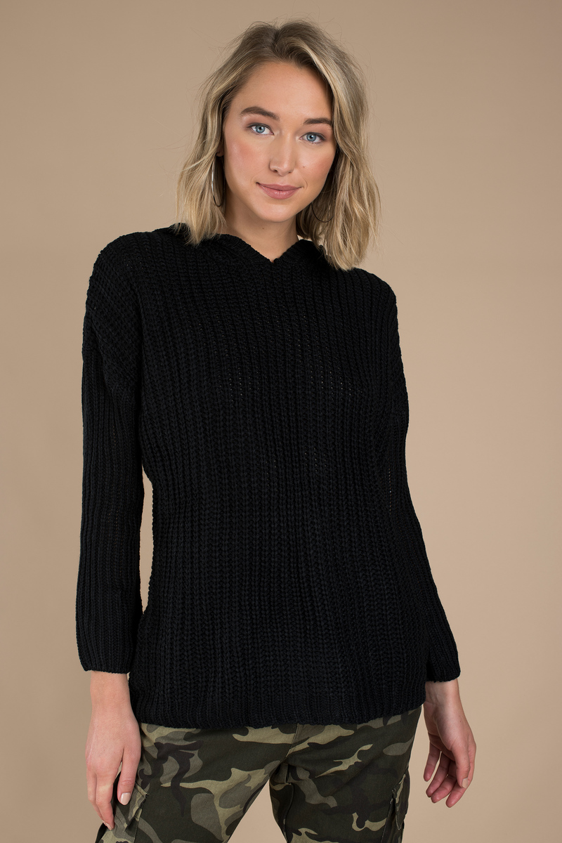 Black Sweater - Oversized Sweater - Black Long Sweater - $13 | Tobi US