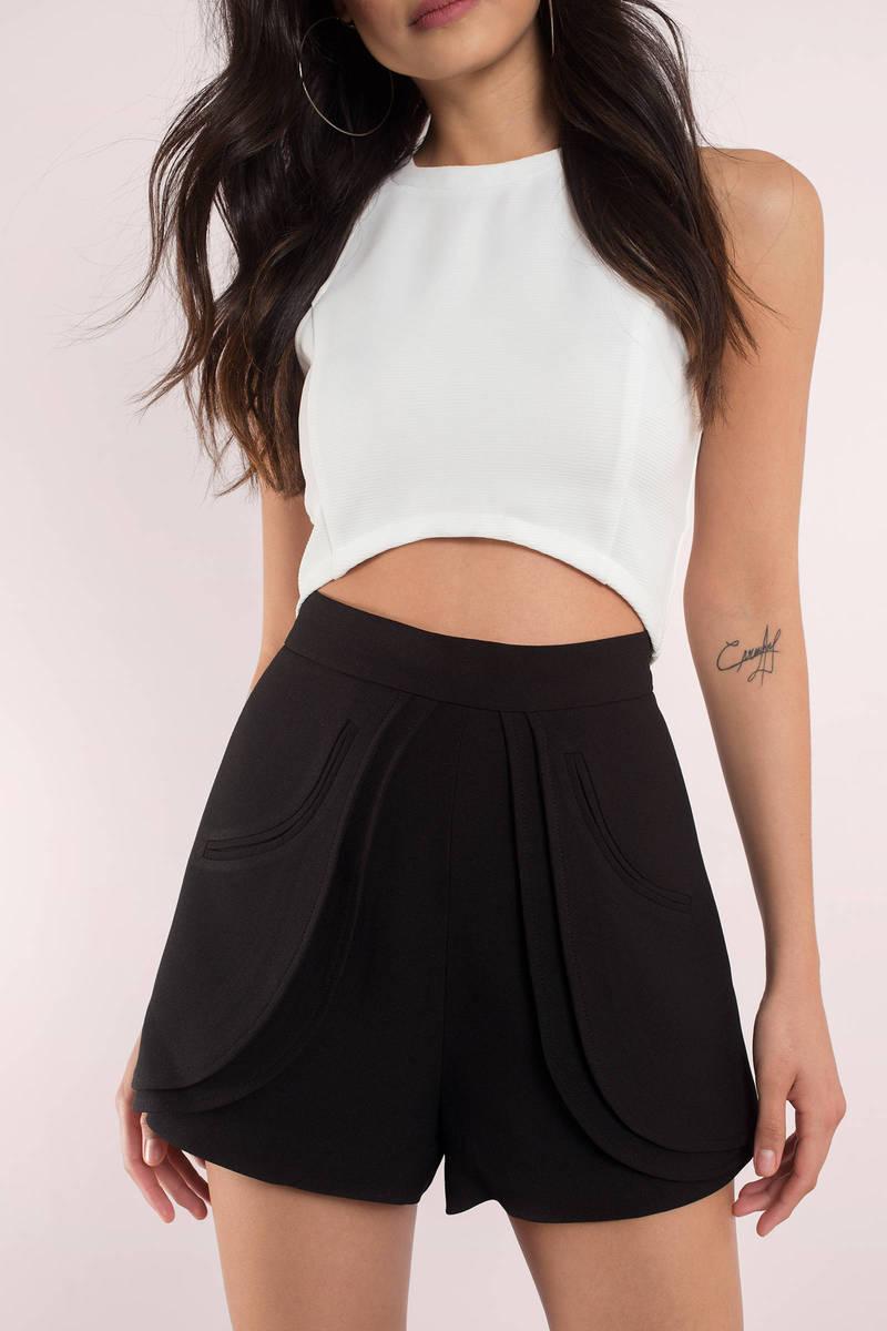 Shorts | Black High Waisted Shorts, White Shorts for Women ...