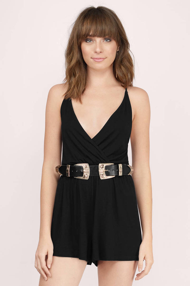 Black dress romper - Lorelle Black Romper