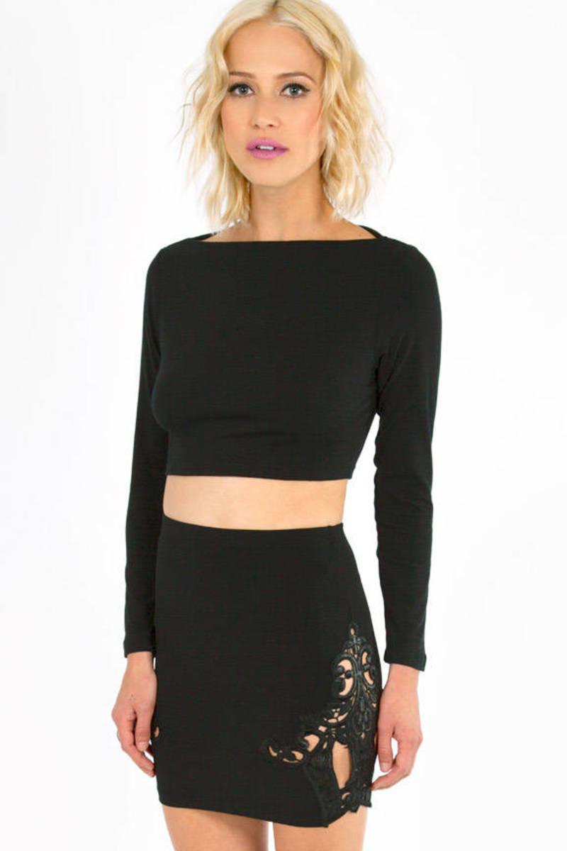Lori Lace Cut Out Skirt
