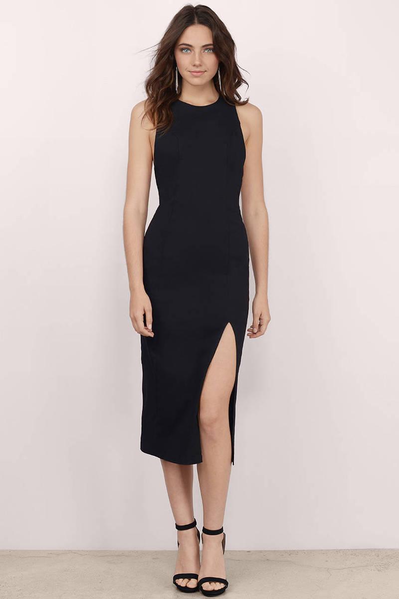 Lost Love Black Bodycon Dress