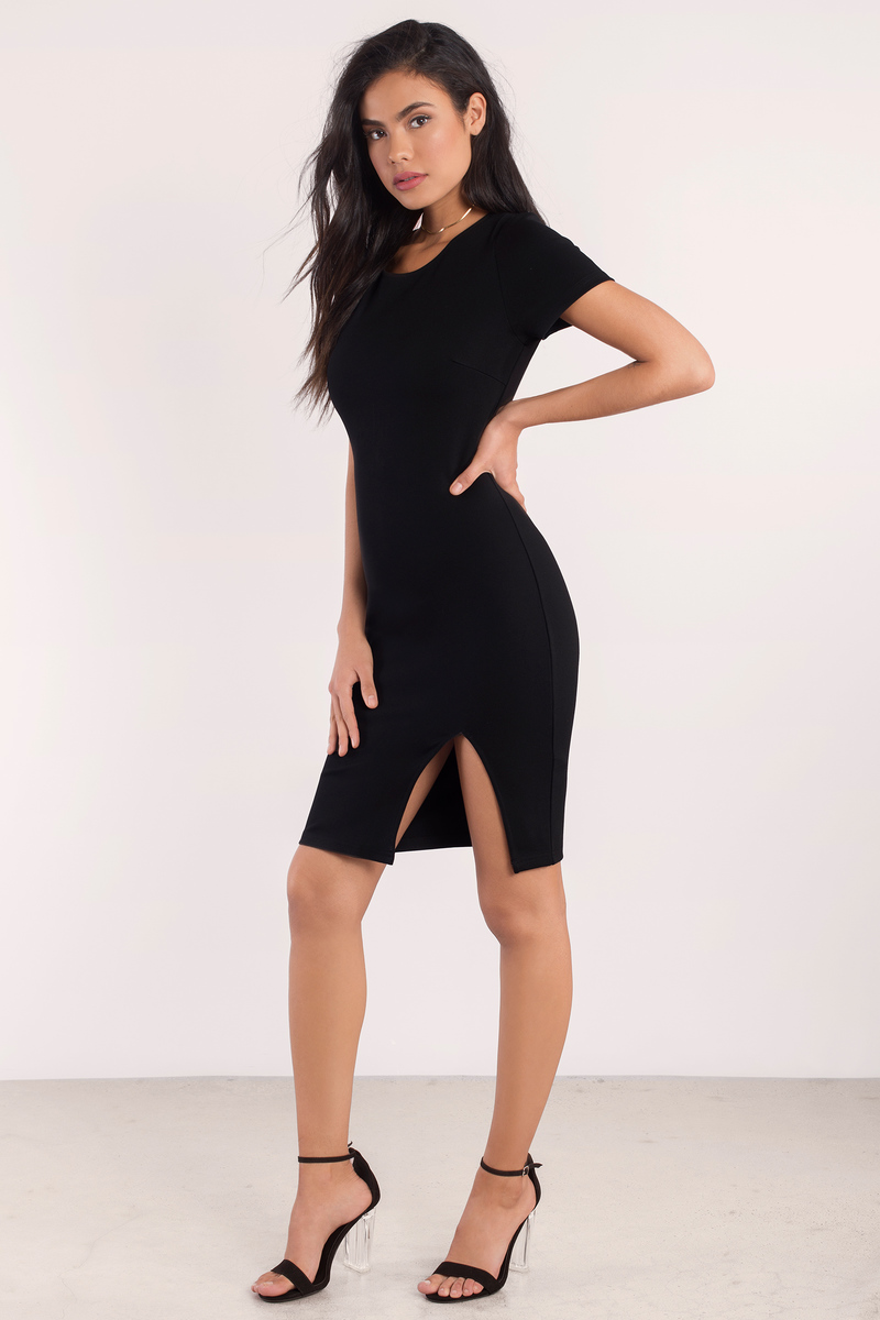 Love Eventually Black Bodycon Dress
