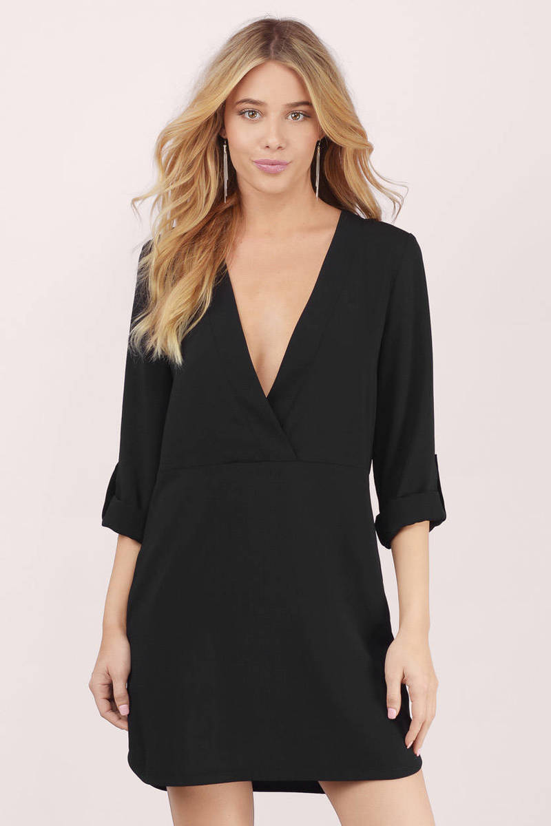 Love Me Not Black Shift Dress